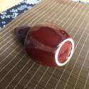 Высокая маленькая вазочка с малиновой глазурью (1)_5170