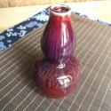 Высокая маленькая вазочка с малиновой глазурью (1)_5172