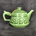 Зелёный чайник в форме основания колонны_5266