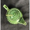 Зелёный чайник в форме основания колонны_5268