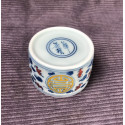 Чаша из цзиндэчженьского фарфора с прямыми стенками «Символ долголетия» (разноцветная роспись)_5286