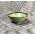 Треугольная чаша из селадона болотно-зеленого цвета_5331