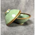 Треугольная чаша из селадона болотно-зеленого цвета_5332