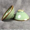 Треугольная чаша из селадона болотно-зеленого цвета_5333