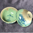 Чаша с частичным покрытием селадоном «Пейзаж»_5341