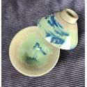 Треугольная чаша с частичным покрытием селадоном «Пейзаж»_5343