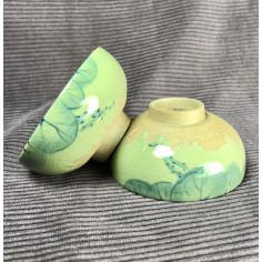 Чаша с частичным покрытием селадоном «Пруд»