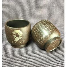 Чаша из исинской глины «Заветы Мао» (1)