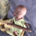 Музыкант, средняя интерьерная статуэтка_5445