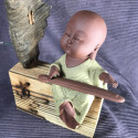 Музыкант, средняя интерьерная статуэтка_5450