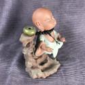 Монах с чётками, средняя интерьерная статуэтка_5462