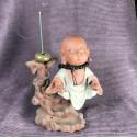 Монах с чётками, средняя интерьерная статуэтка_5464