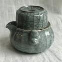 Чайник-гайвань из селадона с чашей-крышкой в подарочной коробке_7199