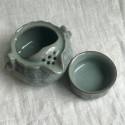 Чайник-гайвань из селадона с чашей-крышкой в подарочной коробке_7201