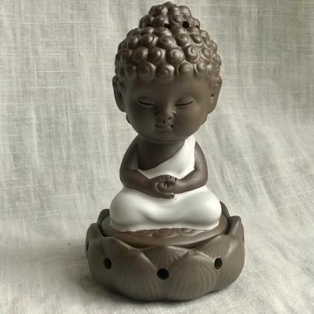 """Курительница благовонная """"Созерцание Будды"""" с белым покрытием"""