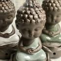 """Курительница благовонная """"Созерцание Будды"""" с зеленым покрытием_7229"""