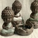 """Курительница благовонная """"Созерцание Будды"""" с серым покрытием_7232"""