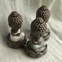 """Курительница благовонная """"Созерцание Будды"""" с серым покрытием_7235"""