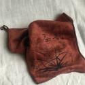 Чайное полотенце цвета киновари, тонкое_7305