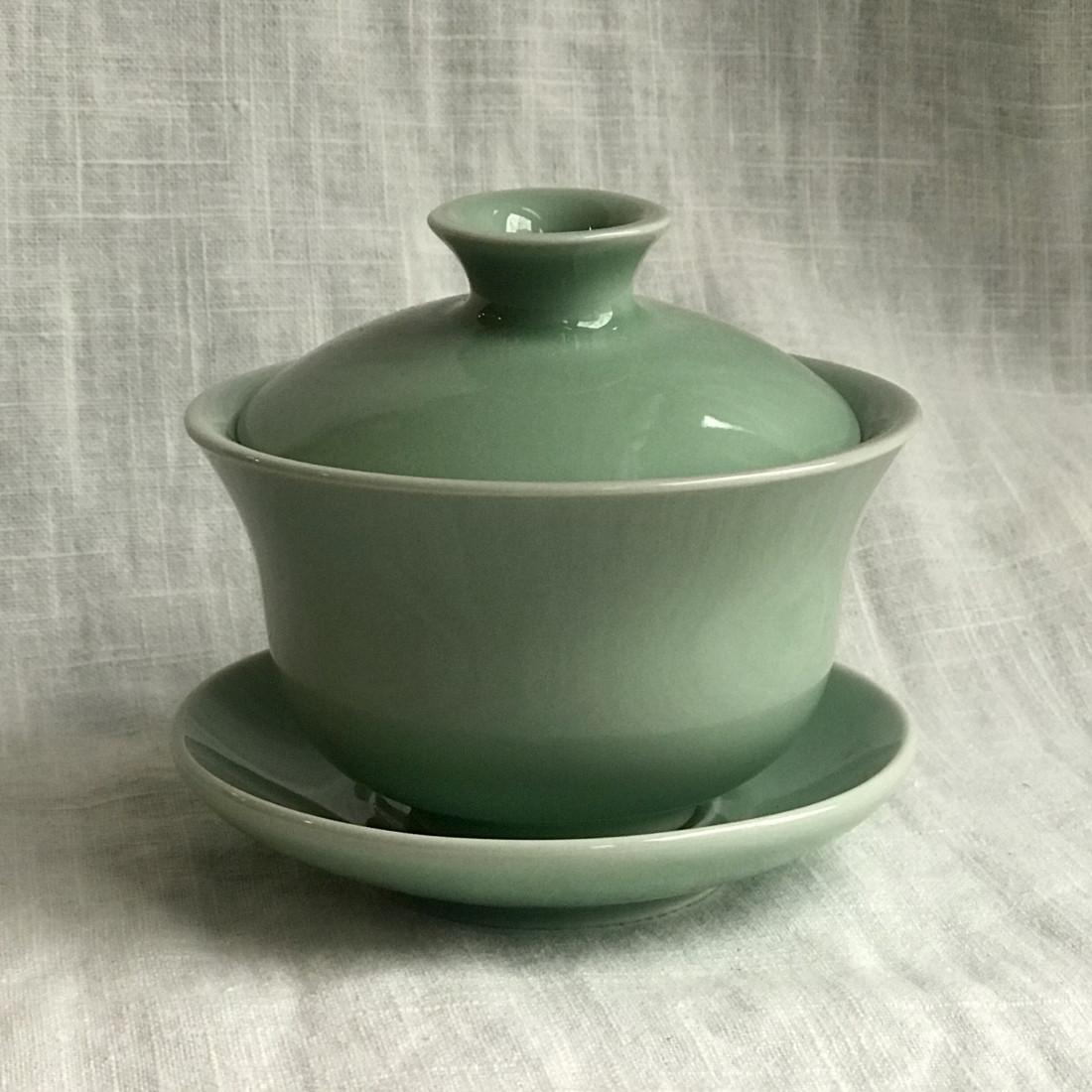 Большая гайвань из дияо цвета зелёной сливы