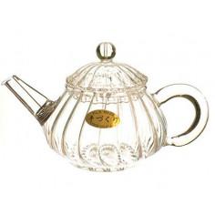 Чайник стеклянный с полосками, 150 мл