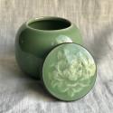 Чайница из дияо цвета зелёной сливы_7363