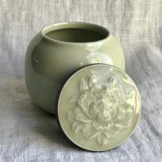 Чайница из дияо цвета желтого риса