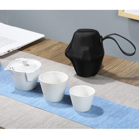 Чайный набор для путешествий (белый)