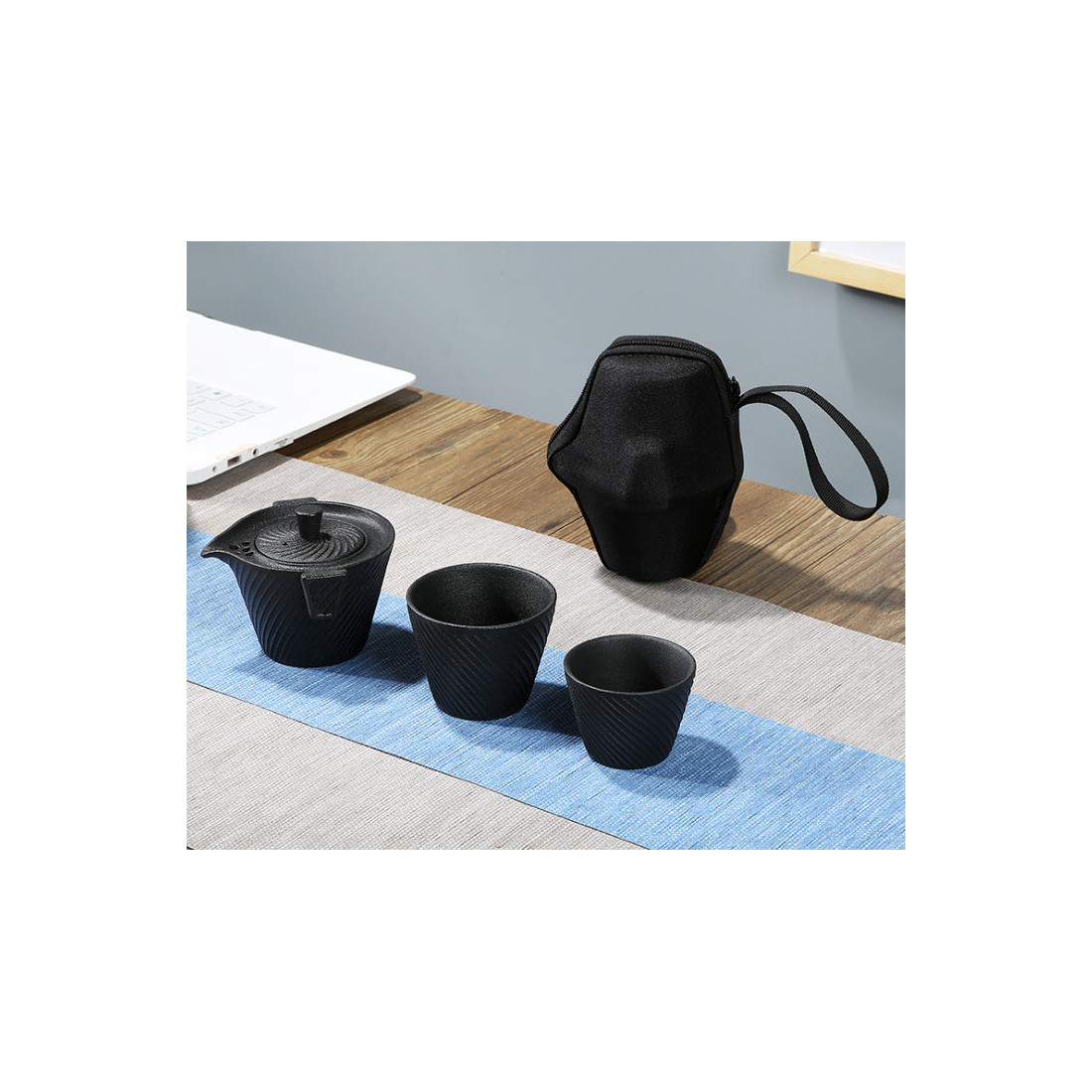 Чайный набор для путешествий (черный)