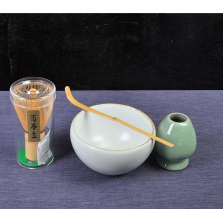 Набор для японского чая (белая чаша)