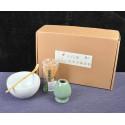 Набор для японского чая (белая чаша)_7410