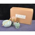 Набор для японского чая (голубая чаша)_7414