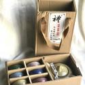 Чайник и 6 чаш «колотый лед» в подарочной коробке_7465