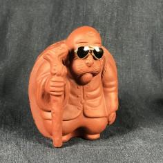 Черепаха красная с черными очками из чжуни