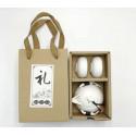 Белый чайник-гайвань и 4 чаши в подарочной коробке_7751