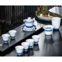 Волнение голубого моря — набор из цзиндэчженьского фарфора_7762