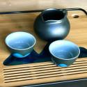 Далекие горы — чаша из гэяо с черной глазурью_7799