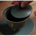 """Благовещий журавль — гайвань керамики """"Жун Шань Тан""""_7806"""