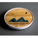Далекие горы — круглая чабань с белой меламиновой основой_7839