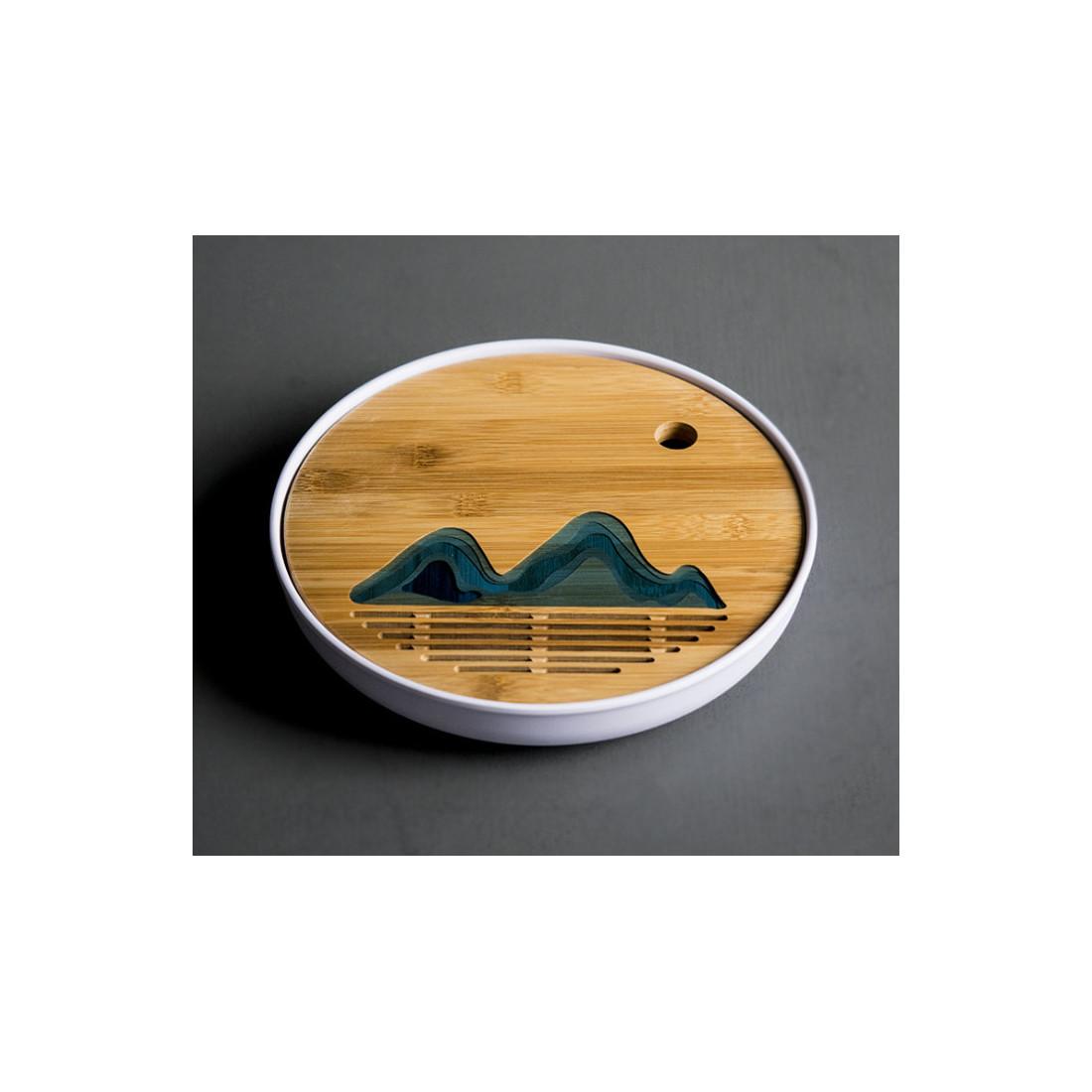 Далекие горы — круглая чабань с белой меламиновой основой