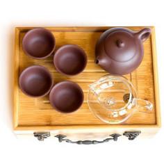 Набор для путешествий (чабань с посудой из исинской глины)