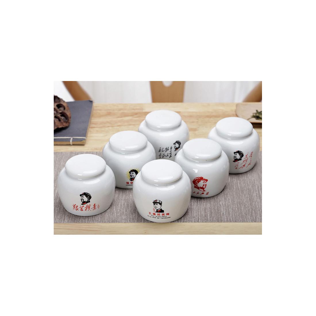 Фарфоровая чайница «Мао»