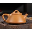 «Каменный черпак» с пейзажем — чайник из исинской глины_8006