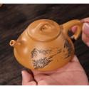 «Каменный черпак» с пейзажем — чайник из исинской глины_8008