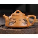 «Каменный черпак» с пейзажем — чайник из исинской глины_8009