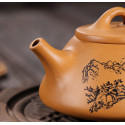 «Каменный черпак» с пейзажем — чайник из исинской глины_8010