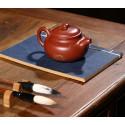 Чайник под старину с золотым рисунком — чайник из исинской глины_8079