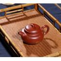 Чайник под старину с золотым рисунком — чайник из исинской глины_8085