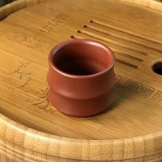 Чаша в форме сегмента бамбука из исинской глины