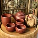 Чаша в форме сегмента бамбука из исинской глины_8197